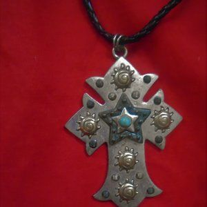 HUGE CROSS NECKLACE